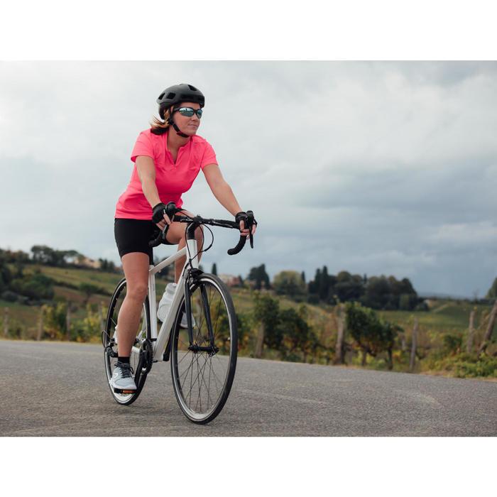 Bicicleta de carretera mujer Aluminio Triban Easy Blanco