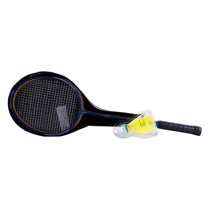 Badmintonracket set BR100 Starter geel/blauw