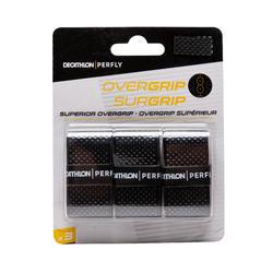 Badminton Griffband Superior Overgrip 3er Pack schwarz