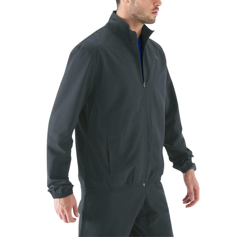 Men's Quick Dry Fitness Tracksuit Jacket - Grey