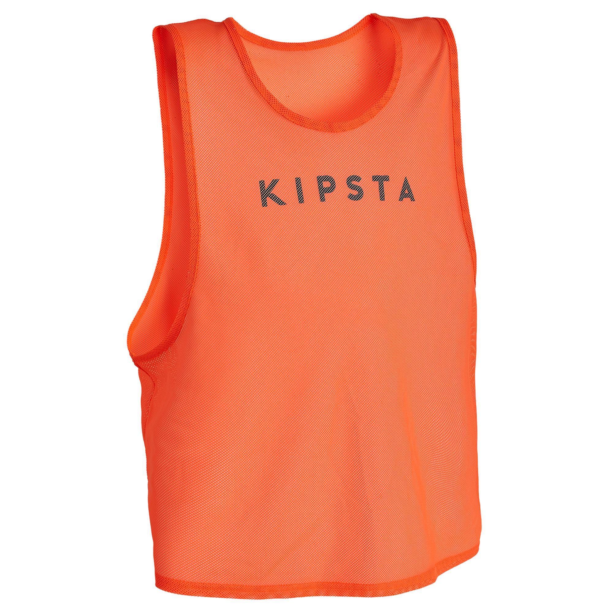 KIPSTA. Pettorina adulto arancione fljuo