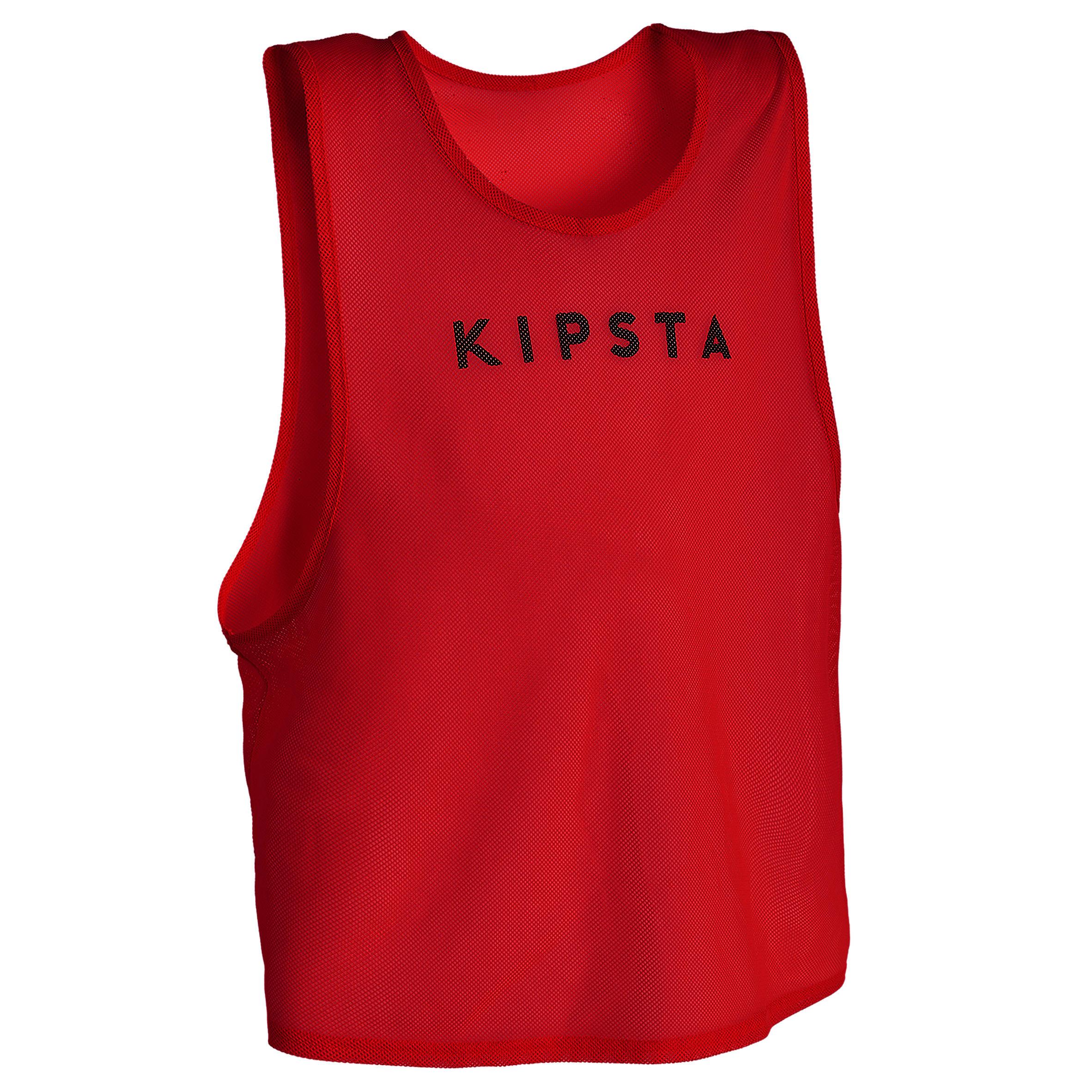 Kipsta Trainingshesje volwassenen rood kopen? Sport>Trainingsmateriaal>Trainingshesjes met voordeel vind je hier