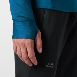Hardloopshirt met lange mouwen voor heren Run Warm petrolblauw