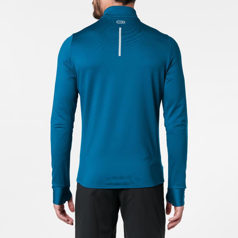 RUN WARM MEN'S RUNNING LONG-SLEEVED T-SHIRT - AIR FORCE BLUE