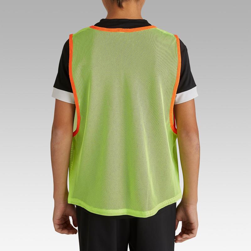 เสื้อเอี๊ยมแบ่งทีมฝึกซ้อมกีฬาสำหรับเด็ก (สีเหลืองนีออน)