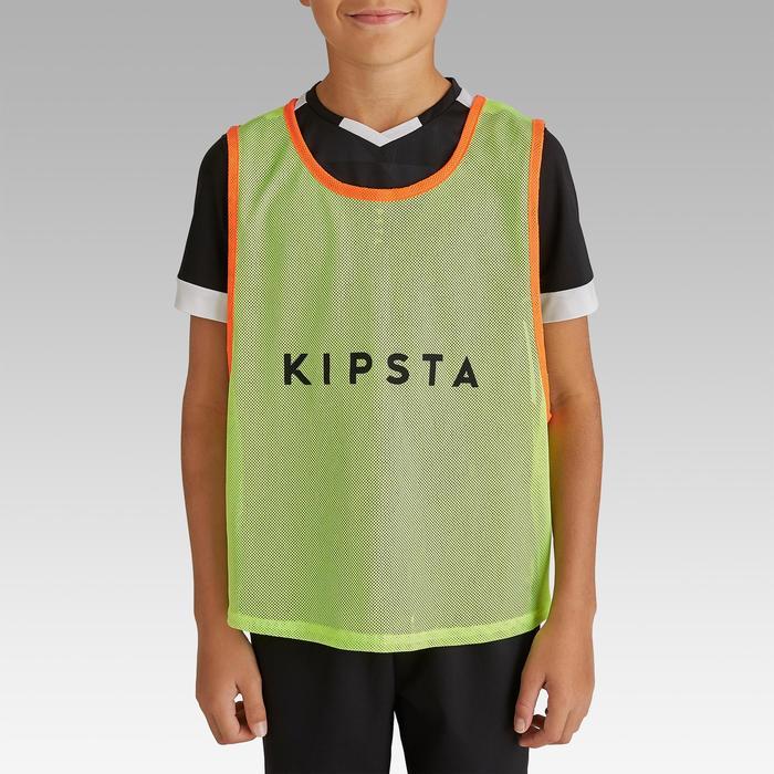 兒童團體運動訓練背心-螢光黃