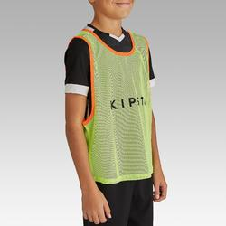 Chasuble sports collectifs enfant jaune fluo