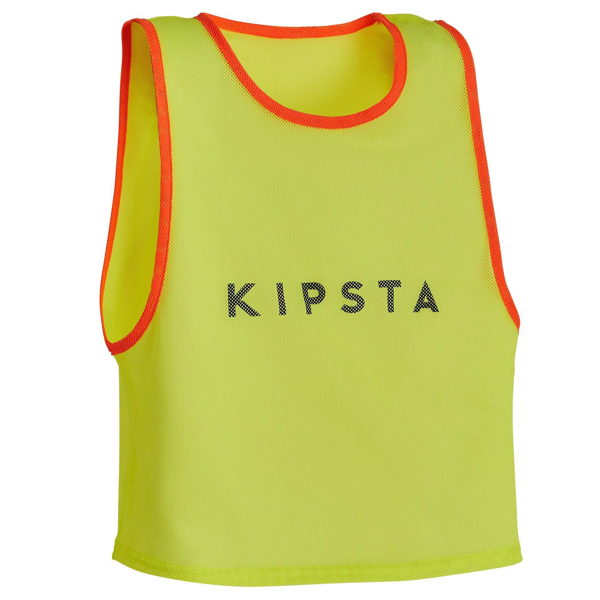 KIPSTA. Pettorina bambino giallo fluo