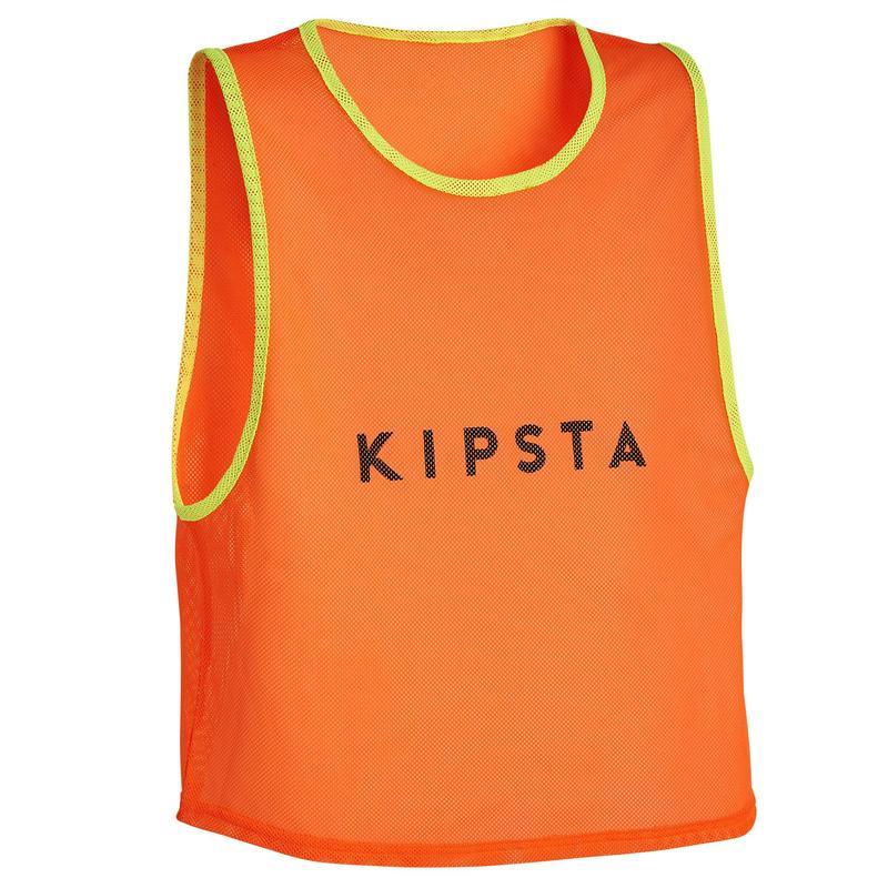 Chasuble sports collectifs enfant orange fluo