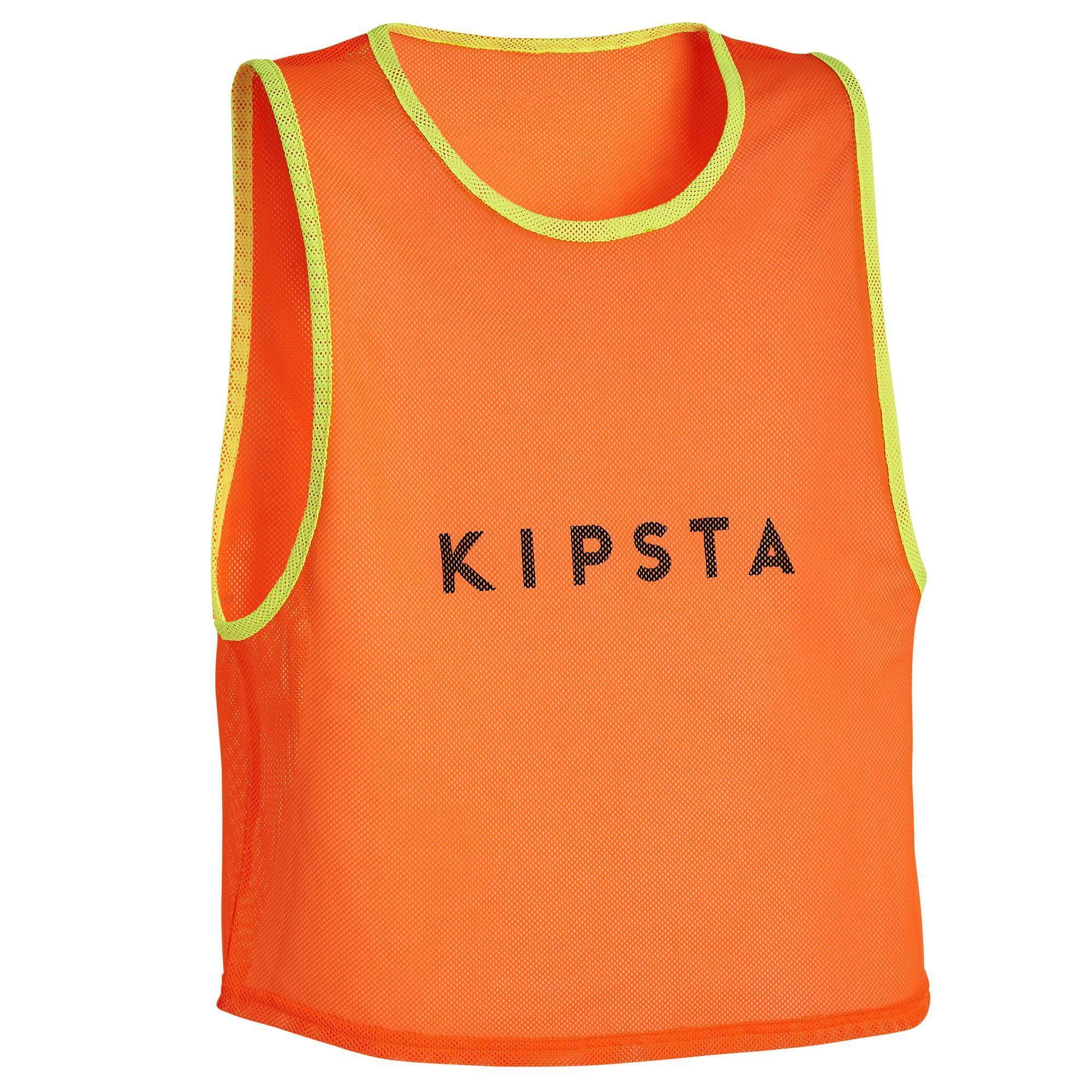 KIPSTA. Pettorina bambino arancione fluo