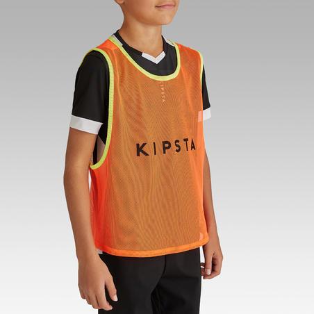 Дитяча спортивна манишка - Неоново-помаранчева