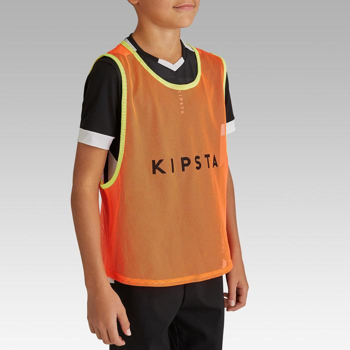 Chasuble sports collectifs enfant orange fluo