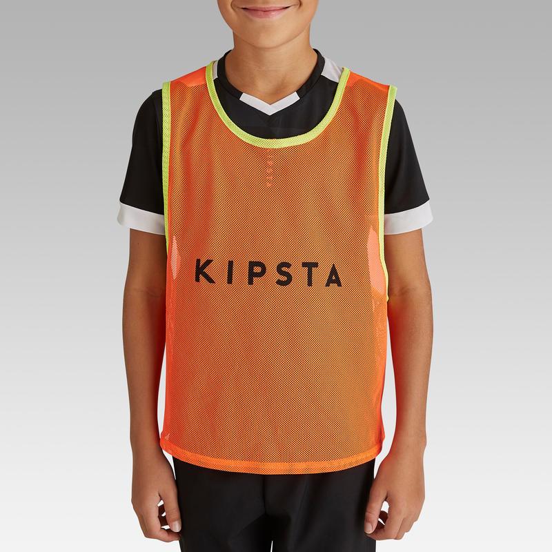 Áo bib thể thao cho Trẻ em - Cam dạ quang