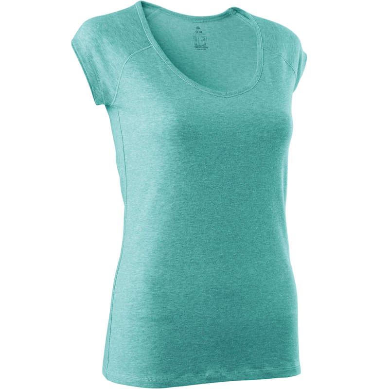 NŐI PÓLÓ, LEGGING, RÖVIDNADRÁG Fitnesz, jóga - Női póló tornához 500-as NYAMBA - Szabadidős fitnesz ruházat