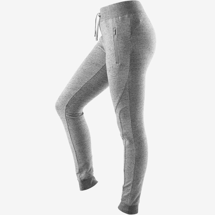Pantalón 510 slim Pilates y Gimnasia suave mujer gris