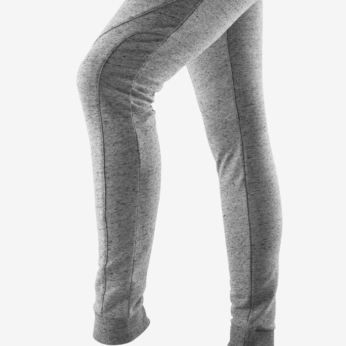 Damesbroek voor pilates en lichte gym 510 slim fit grijs