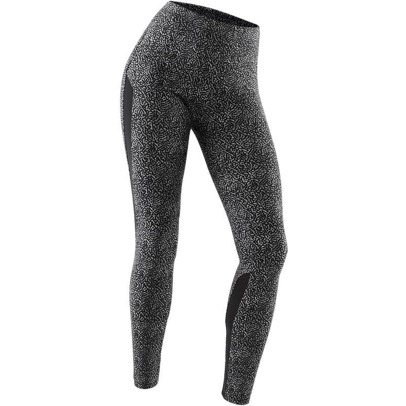 cc6d02627416b9 Buy 520 Women's Slim-Fit Pilates & Gentle Gym Leggings - Black/Grey Print