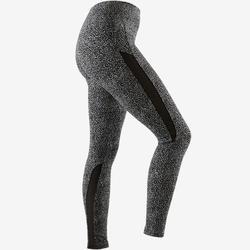 Legging 520 Pilates Gym douce femme noir imprimé gris