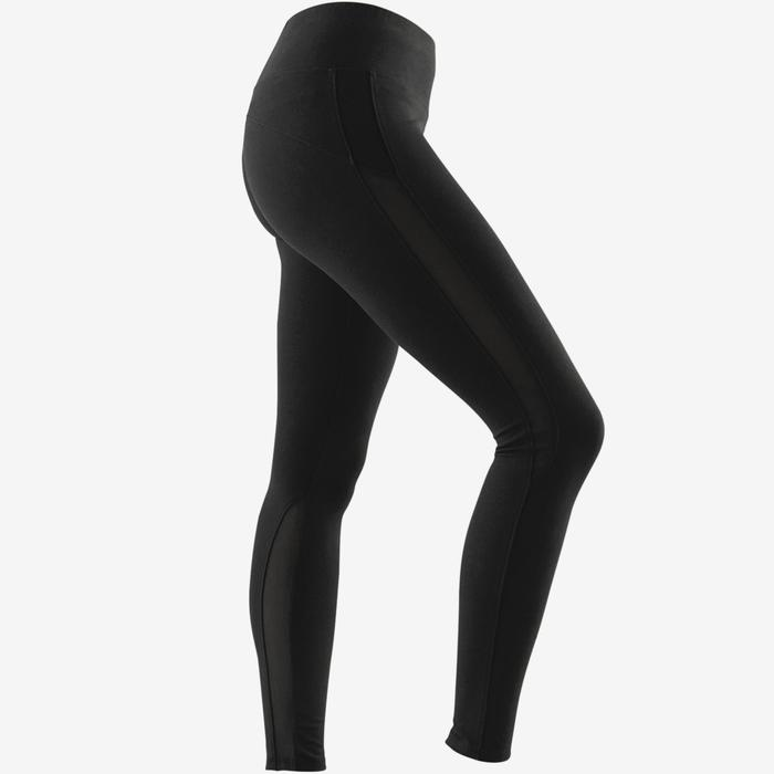 Dameslegging 520 voor pilates/lichte gym slim fit zwart