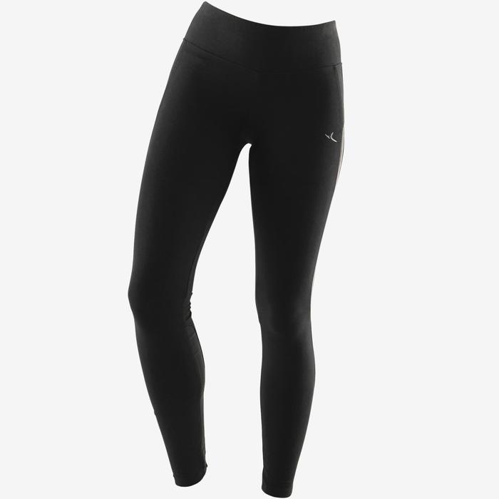 女款皮拉提斯與溫和健身緊身褲520 - 黑色