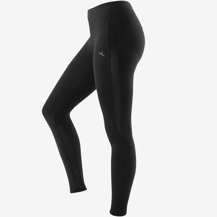 Leggings 520 Slim Pilates sanfte Gymnastik Damen schwarz