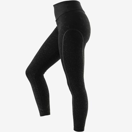 73c1ca111a3c4a 560 Women's Slim-Fit Pilates & Gentle Gym Leggings - Black/Grey Print.  Previous. Next