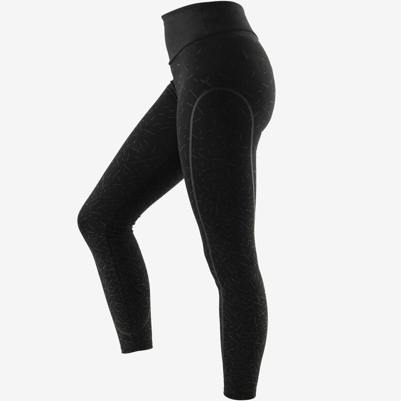 Women's Slim-Fit Shaping Pilates & Gentle Gym Sport Leggings - Black