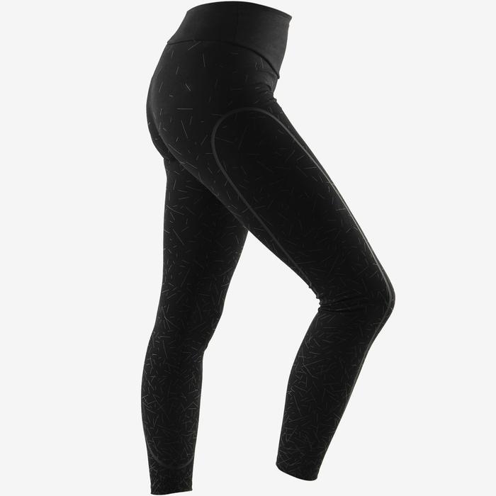 Modellerende legging voor pilates en lichte gym dames slim fit zwart