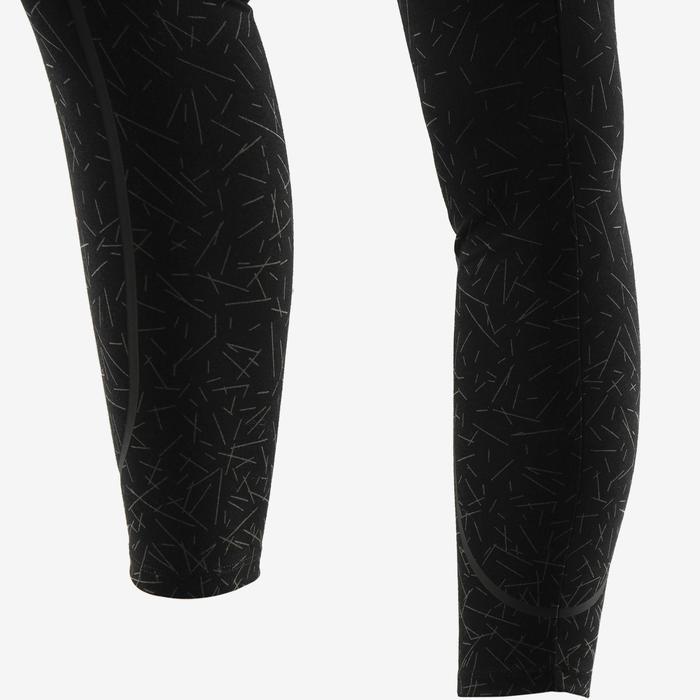 Legging 560 slim ventre plat et galbant Fitness femme noir print gris
