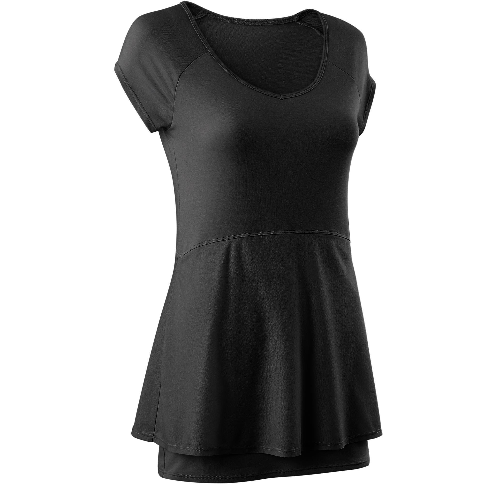 Camiseta 530 pilates y gimnasia suave mujer negro