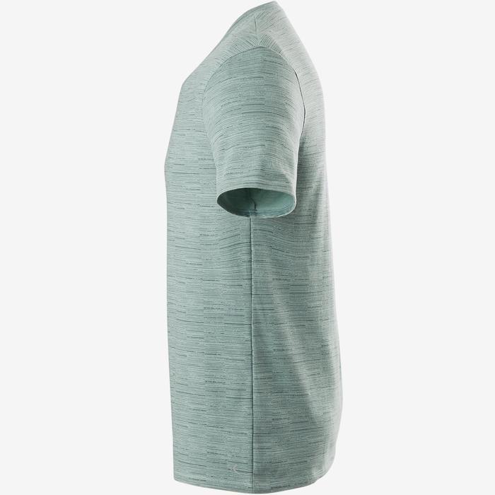 T-Shirt Slim 500 V Gym & Pilates Herren grün