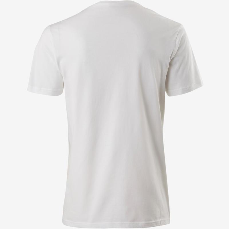 Camiseta Sportee 100 regular 100% algodón Gimnasia Stretching blanco hombre