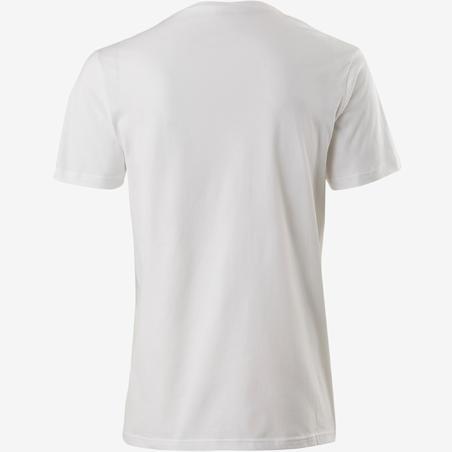 T-shirt sport pilates gymnastique douce homme 100régul blanc