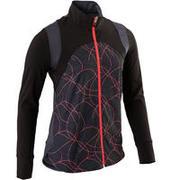 S900 Girls' Gym Breathable Light Jacket - Black AOP