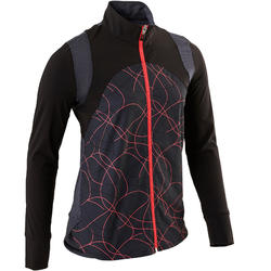 S900 Girls' Gym Breathable Light Jacket - Black AOP