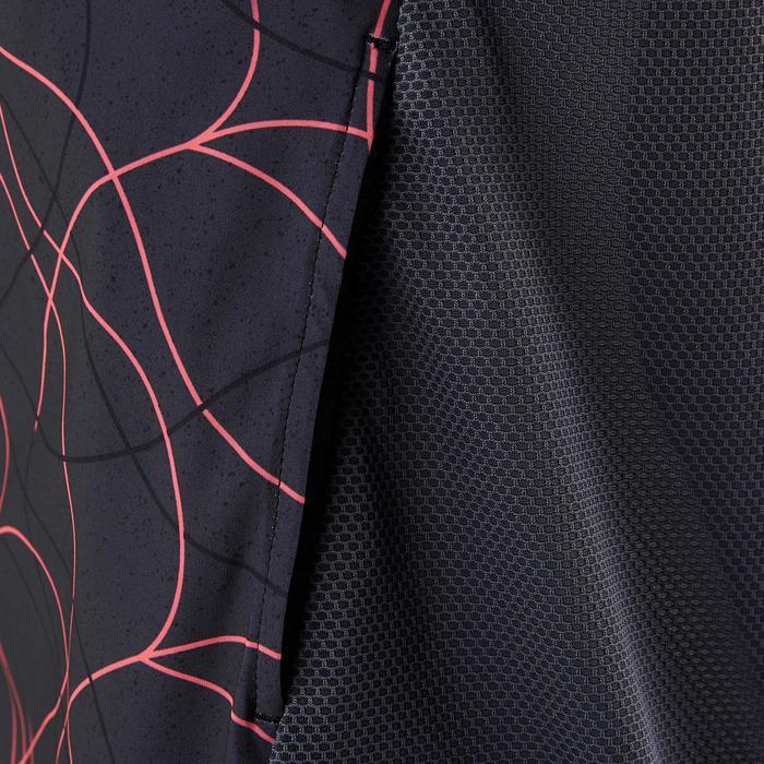 Trainingsjacke leicht atmungsaktiv S900 Gym Kinder schwarz AOP