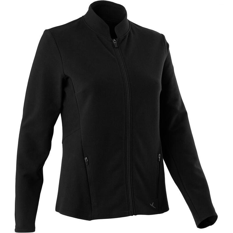 Sweater met rits voor fitness Freemove zwart