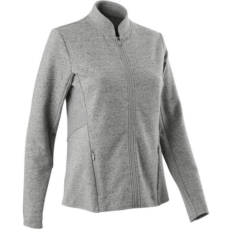 Sweater met rits voor fitness Freemove grijs