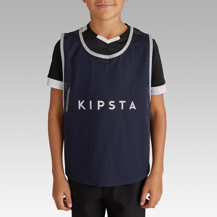 兒童款球隊運動用足球訓練背心 - 藍色