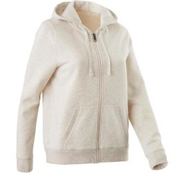 520 Women's Pilates & Gentle Gym Hooded Jacket - Beige