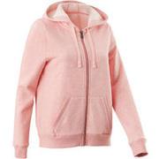 Chaqueta 520 capucha Pilates y Gimnasia suave mujer rosa