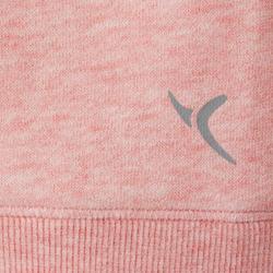 女款溫和健身與皮拉提斯連帽外套520 - 粉紅色