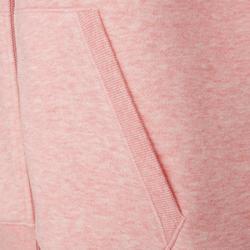 Kapuzenjacke 520 Pilates sanfte Gymnastik Damen rosa