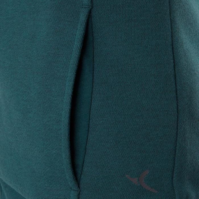 Sudadera De Chándal De Gimnasia Y Pilates Domyos 500 Cuello Alto Mujer Azul