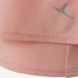 女款皮拉提斯與溫和健身T恤530 - 粉紅色