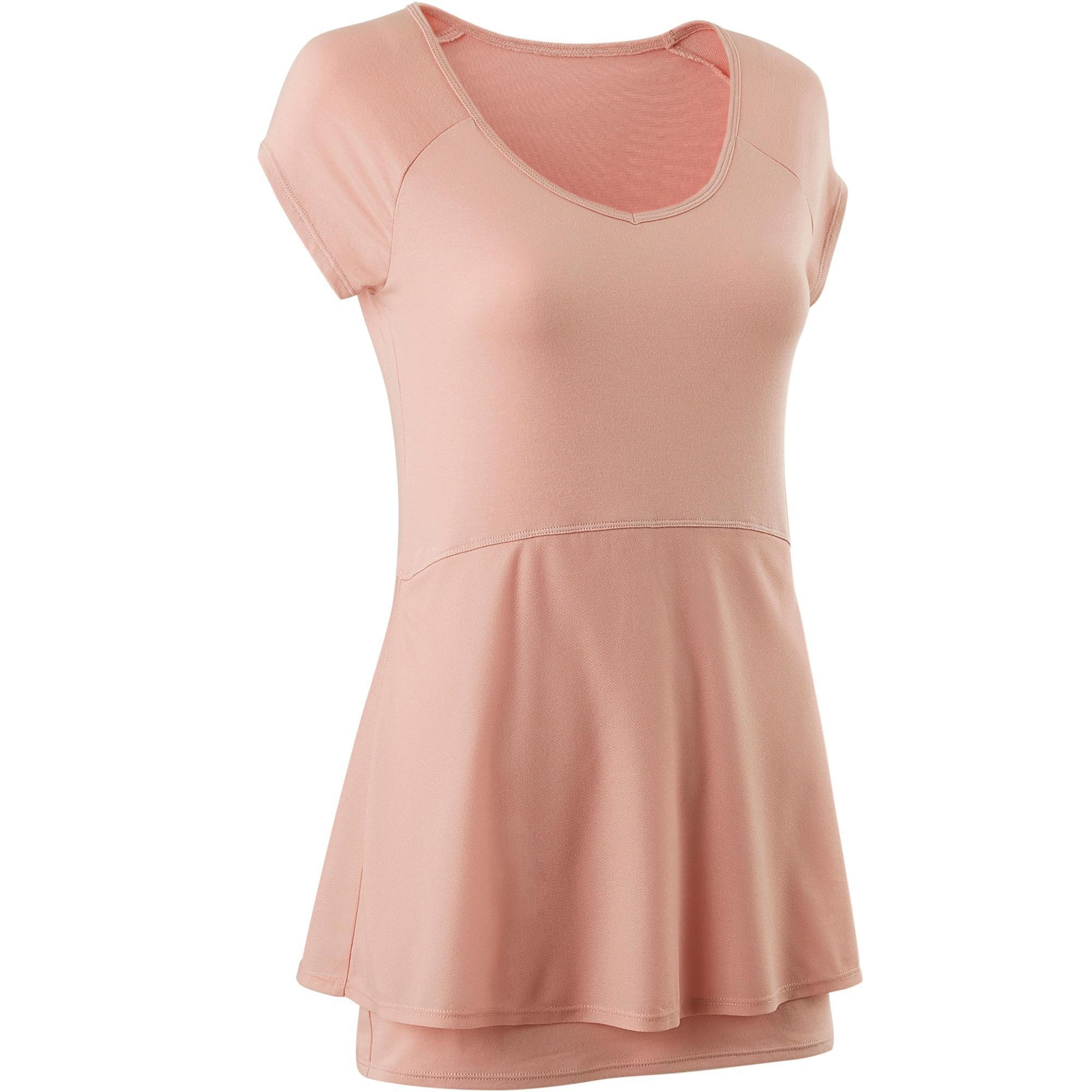 58177011b0f122 Domyos T-shirt 530 pilates en lichte gym dames roze kopen met voordeel