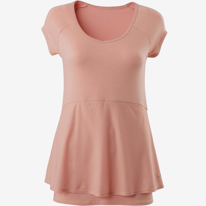 T-Shirt 530 Pilates sanfte Gymnastik Damen rosa