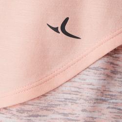 T-Shirt manches courtes coton respirant 500 fille GYM ENFANT rose AOP rose