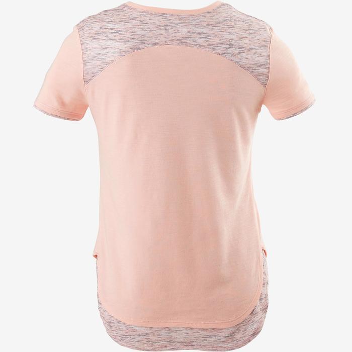 T-Shirt Gym 500 Kinder rosa