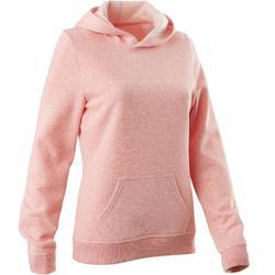 520 Women's Gentle Gym & Pilates Hooded Sweatshirt - Pink